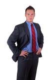 Posição do homem de negócios foto de stock royalty free