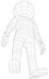 Posição do homem do fantoche 3d Foto de Stock