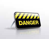 Posição do sinal do perigo Foto de Stock Royalty Free