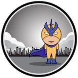 Posição do super-herói Foto de Stock Royalty Free