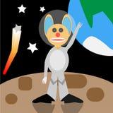 Posição estrangeira dos desenhos animados no espaço Fotografia de Stock Royalty Free