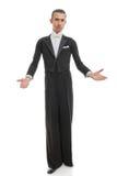 Posição masculina do dançarino do salão de baile Foto de Stock Royalty Free