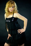 Posição modelo italiana loura lindo 'sexy' Fotografia de Stock