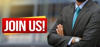A posição profissional com junta-se nos - bandeira do recrutamento Fotos de Stock Royalty Free