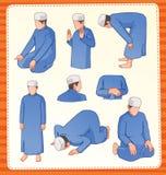Posição rezando muçulmana Fotografia de Stock