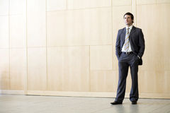 Posição solitária do homem de negócios Fotografia de Stock