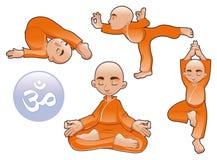 Posições da ioga ilustração do vetor