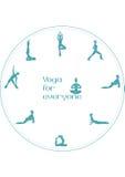 Posições da ioga para todos Imagens de Stock
