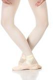 Posições dos pés do bailado fotografia de stock