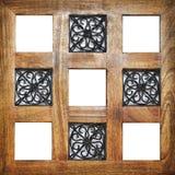 Posições vazias de madeira múltiplas do quadro Fotografia de Stock