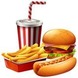 Posiłek fast food royalty ilustracja