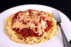 posiłki 2 spaghetti zdjęcie royalty free