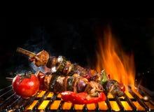 Posiłku skewer na grillu zdjęcie royalty free