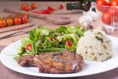 Posiłek wieprzowina stek Zdjęcie Stock