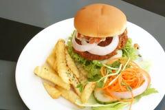 posiłek zestaw hamburgera Obrazy Stock