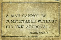 Posiadać zatwierdzenie Twain obraz stock