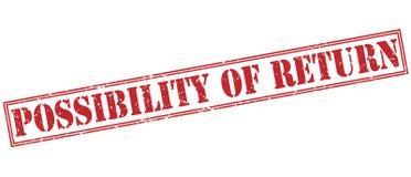 Posibilidad del sello rojo de vuelta libre illustration