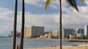 Posibilidad muy remota de la playa de Waikiki y el hotel hawaiano real en Hawaii