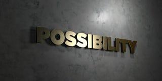 Posibilidad - texto del oro en fondo negro - imagen común libre rendida 3D de los derechos libre illustration