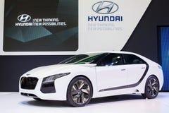 Posibilidades de pensamiento del concepto de Hyundai nuevas nuevas en la trigésima expo internacional del motor de Tailandia el 3  Imágenes de archivo libres de regalías