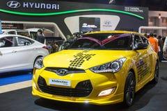 Posibilidades de pensamiento del concepto de Hyundai nuevas nuevas en la trigésima expo internacional del motor de Tailandia el 3  Fotos de archivo libres de regalías