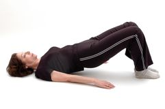 Posición 967 de la yoga Fotografía de archivo