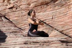 Posición de la yoga Foto de archivo libre de regalías