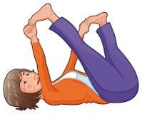 Posición de la yoga. Imagen de archivo