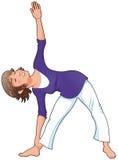 Posición de la yoga. Fotos de archivo