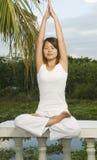Posición de la yoga Fotografía de archivo libre de regalías