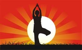 Posición de la yoga ilustración del vector
