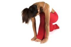 Posición de la yoga Fotografía de archivo