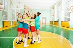 Posición teambuilding del voleibol Imágenes de archivo libres de regalías