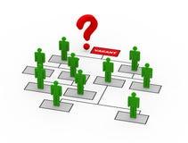 posición vacante del CEO del signo de interrogación 3d stock de ilustración
