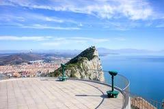 Posición ventajosa de la roca de Gibraltar Fotos de archivo