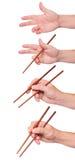 Posiciona o sushi do chopstick Imagens de Stock Royalty Free