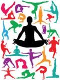 Posiciones de la yoga Foto de archivo libre de regalías