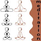 Posiciones de la yoga Fotos de archivo libres de regalías