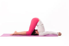Posiciones reversas en yoga Imágenes de archivo libres de regalías