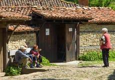 Posidelki in the Balkan village Royalty Free Stock Images