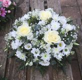 posie белой розы стоковые изображения