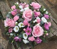 Posie cor-de-rosa e branco Fotografia de Stock Royalty Free