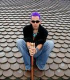 posiedzenie dach Zdjęcia Royalty Free