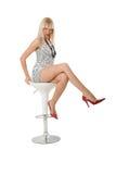 posiedzenie dziewczyny Obraz Stock