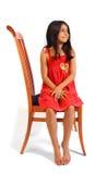 posiedzenie dziewczyny Zdjęcia Royalty Free