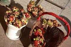 Posies цветка и плодоовощ стоковая фотография