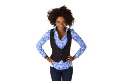 Posing  afro american woman Royalty Free Stock Photography