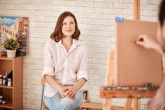 Posing for artist Stock Photography