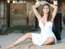 Posing at the beach Stock Photos