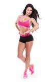Posing beautiful fitness sexy woman Stock Photos